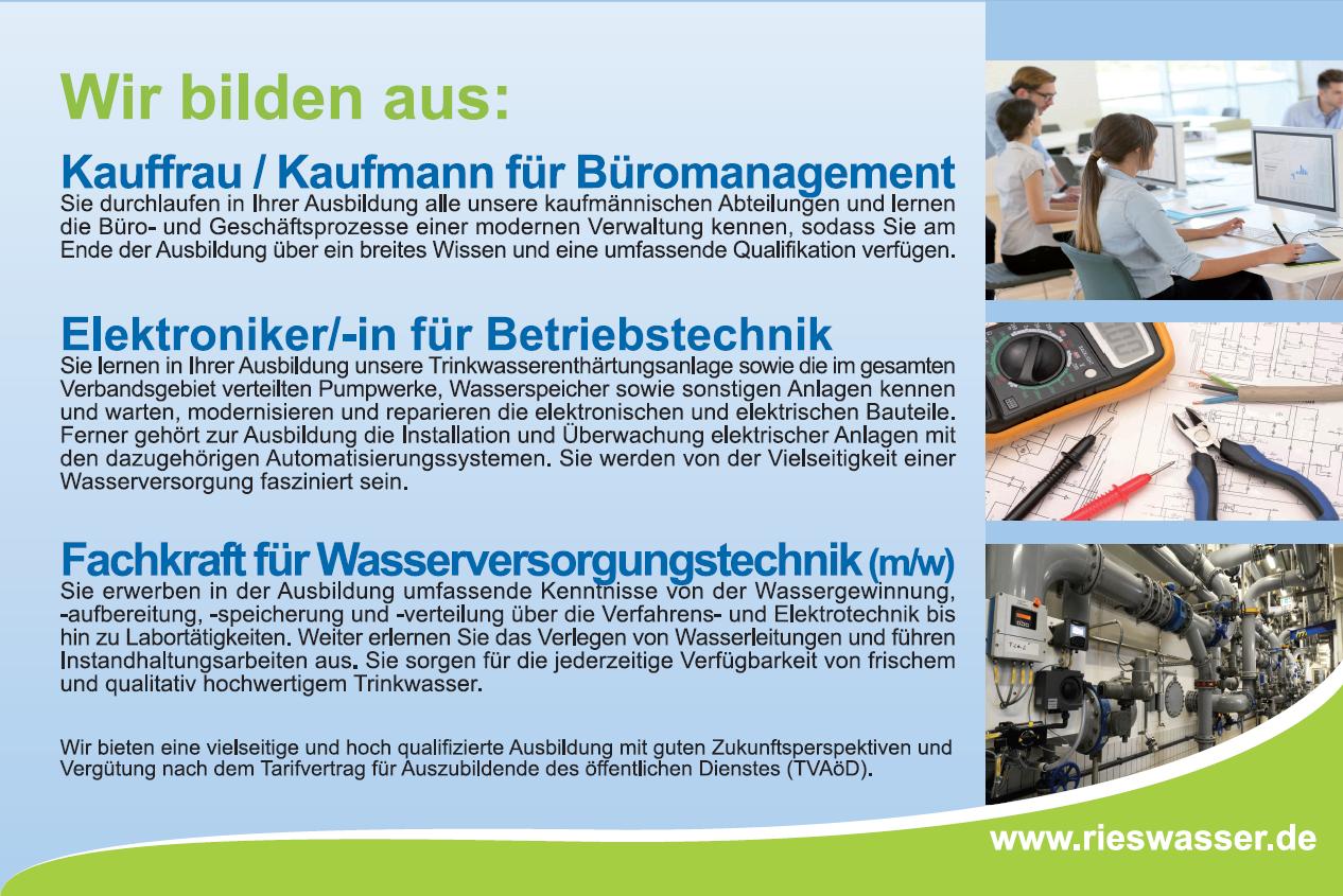Aktuelle Stellenangebote Bayerische Rieswasserversorgung